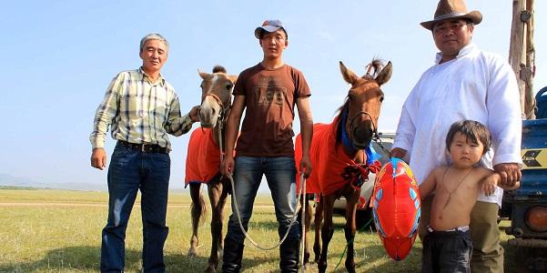 Una famiglia mongola