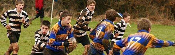 Sono un bambino che gioca a rugby