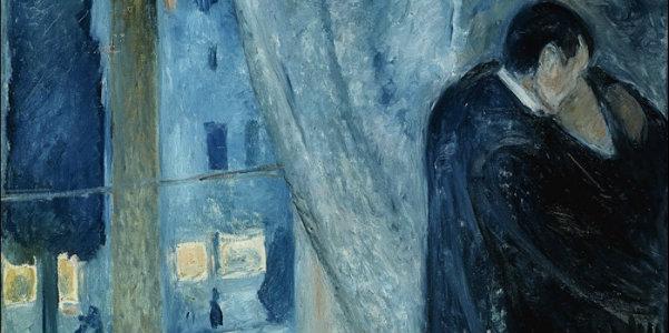 """Edvard Munch, """"Bacio alla finestra"""", 1892"""