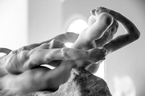 (CLAUDEL) Rodin, Fugit Amor (1887), marmo - particolare