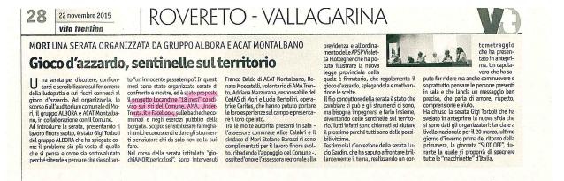 Vita Trentina, 22 novembre 2015