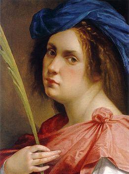 Artemisia_Gentileschi 1615 autoritratto a 22 anni