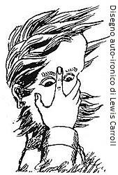 disegno autoironico di Lewis Carroll
