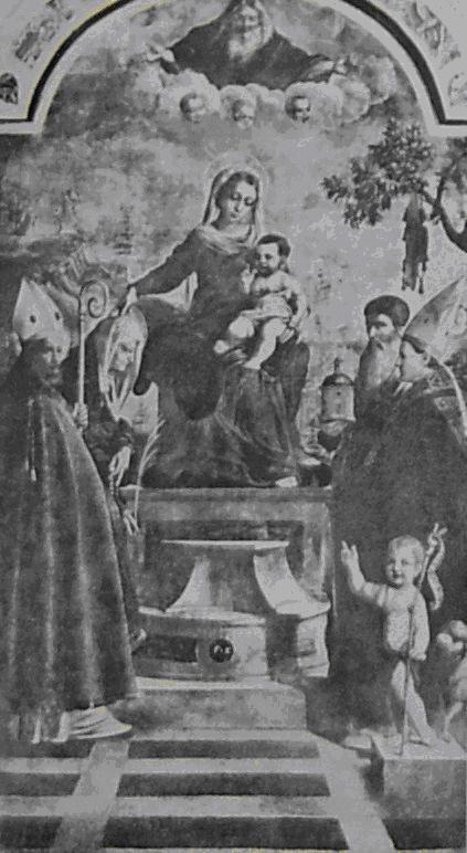 G.F. Caroto, Madonna in trono e Santi ,Trento, Museo Diocesano Tridentino